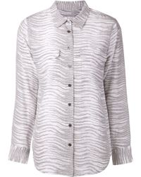 Equipment Gray Printed Shirt - Lyst