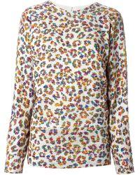 Chloé Leopard Print Sweater - Lyst