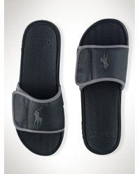 Polo Ralph Lauren Black Romsey Sandal - Lyst