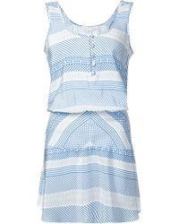 Veronica Beard Multi Print Sleeveless Dress - Lyst