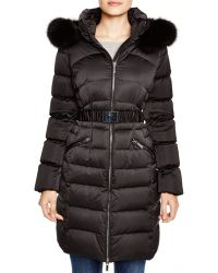 Diane von Furstenberg | Claudia Fur Trim Hooded Puffer Coat | Lyst