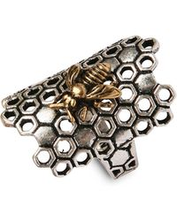 Lucky Brand - Twotone Honeycomb Ring - Lyst