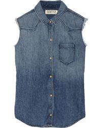 Textile Elizabeth And James Austin Denim Shirt - Lyst