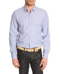 Lacoste Blue Poplin Shirt - Lyst
