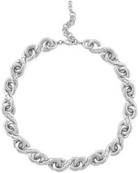 Cole Haan - Logo Link Collar Necklace - Lyst