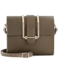 Chloé Bronte Small Texturedleather Shoulder Bag - Lyst