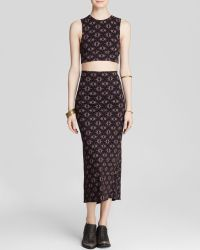 Free People Top And Skirt Set - So So Textured Havana black - Lyst