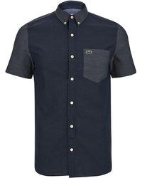 Lacoste L!ive - Men's Short Sleeve Shirt - Lyst