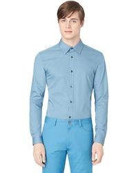 Calvin Klein Solid Stretch Sport Shirt - Lyst