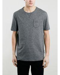 Topman Ltd Core Grey Tri-Marl T-Shirt - Lyst