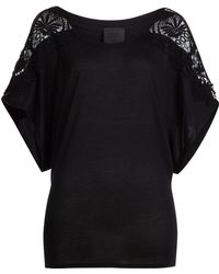 Anna Sui Top With Crochet Sleeves - Lyst