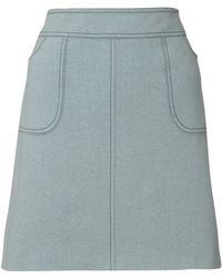 Jigsaw - Melton Mini Skirt - Lyst