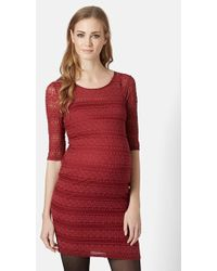 Topshop Bobble Lace Body-Con Maternity Dress - Lyst