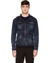 Diesel Blue Faded Juzikrib_ne Jogg Jacket - Lyst