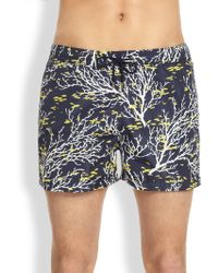 Façonnable - Branches Fish Swim Trunks - Lyst