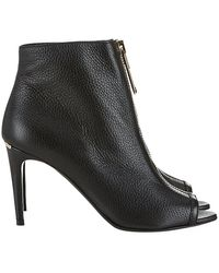 Burberry Haverstock Peeptoe Ankle Boots - Lyst