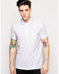 Diesel White Polo Shirt - Lyst