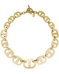 Michael Kors Maritime Chain-link Gold-tone Necklace - Lyst