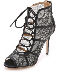 Badgley Mischka - Sherry Lace Booties - Ivory/nude - Lyst