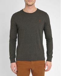 Polo Ralph Lauren   Grey Pr Custom-fit Long-sleeve T-shirt   Lyst