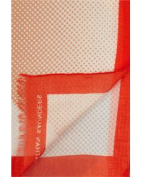 Jonathan Saunders Printed Modal and Cashmereblend Scarf - Lyst