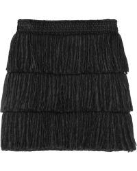 Lanvin Tiered Fringed Mini Skirt - Lyst