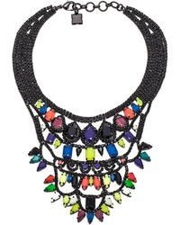 BCBGMAXAZRIA Pop Color Stone Necklace - Lyst