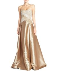 Pamella Pamella Roland - Embellished Mikado Ball Gown - Lyst