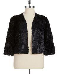 Marina - Plus Sequined Faux Fur Bolero Jacket - Lyst