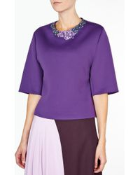 3.1 Phillip Lim Oversized Top with Embelished Neckline - Lyst