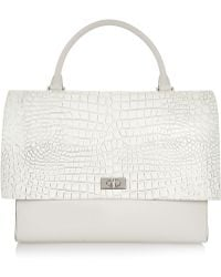 Givenchy Shark Medium Shoulder Bag In Croc-Embossed Leather And Suede - Lyst