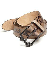 Alexander McQueen   Printed Leather Belt   Lyst