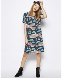 NW3 by Hobbs | Country Dress In Japanese Kimono Print | Lyst