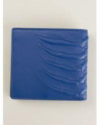Alexander McQueen Ribcage Embossed Billfold Wallet - Lyst