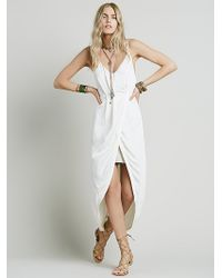 Free People Womens Summer Lady Solid Dress white - Lyst