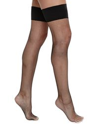 Commando Up All Night Fishnet Thigh-High Stockings - Lyst