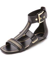 Rachel Zoe Inigo Flat Sandals - Black - Lyst