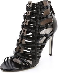 Jason Wu - Leather Suede Woven Sandals - Lyst