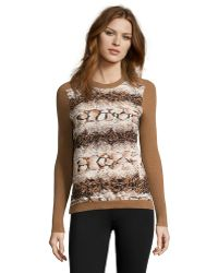 YAL New York - Animal Printed Sweater - Lyst