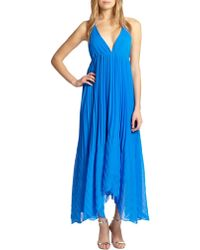 Alice + Olivia Adalyn Pleated Maxi Dress - Lyst
