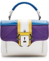 Paula Cademartori Mini Color-Blocked Leather Shoulder Bag - Lyst