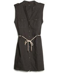 Mango Drawstring Shirt Dress - Lyst