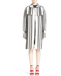 Etienne Deroeux - Striped Trench Coat - Lyst