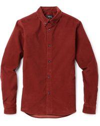 A.P.C. Corduroy Shirt - Lyst