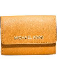 MICHAEL Michael Kors Jet Set Coin Travel Purse Vintage Yellow - Lyst