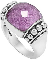 Lagos Maya Silver Charoite Dome Ring silver - Lyst
