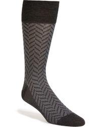 John W. Nordstrom® Chevron Socks - Lyst