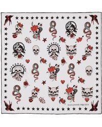Alexander McQueen | Skull Tattoo Silk Bandana | Lyst