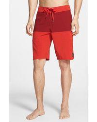 Volcom 'Static Block' Board Shorts red - Lyst