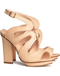 H&M Leather Sandals - Lyst